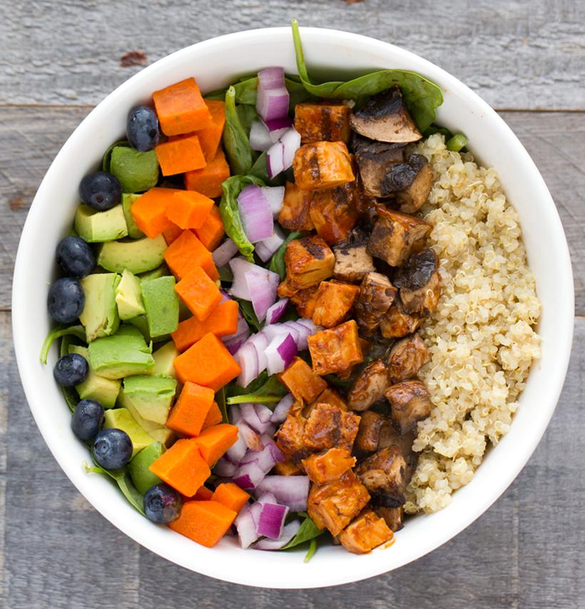 Vegan BBQ 'Chicken' Chopped Salad