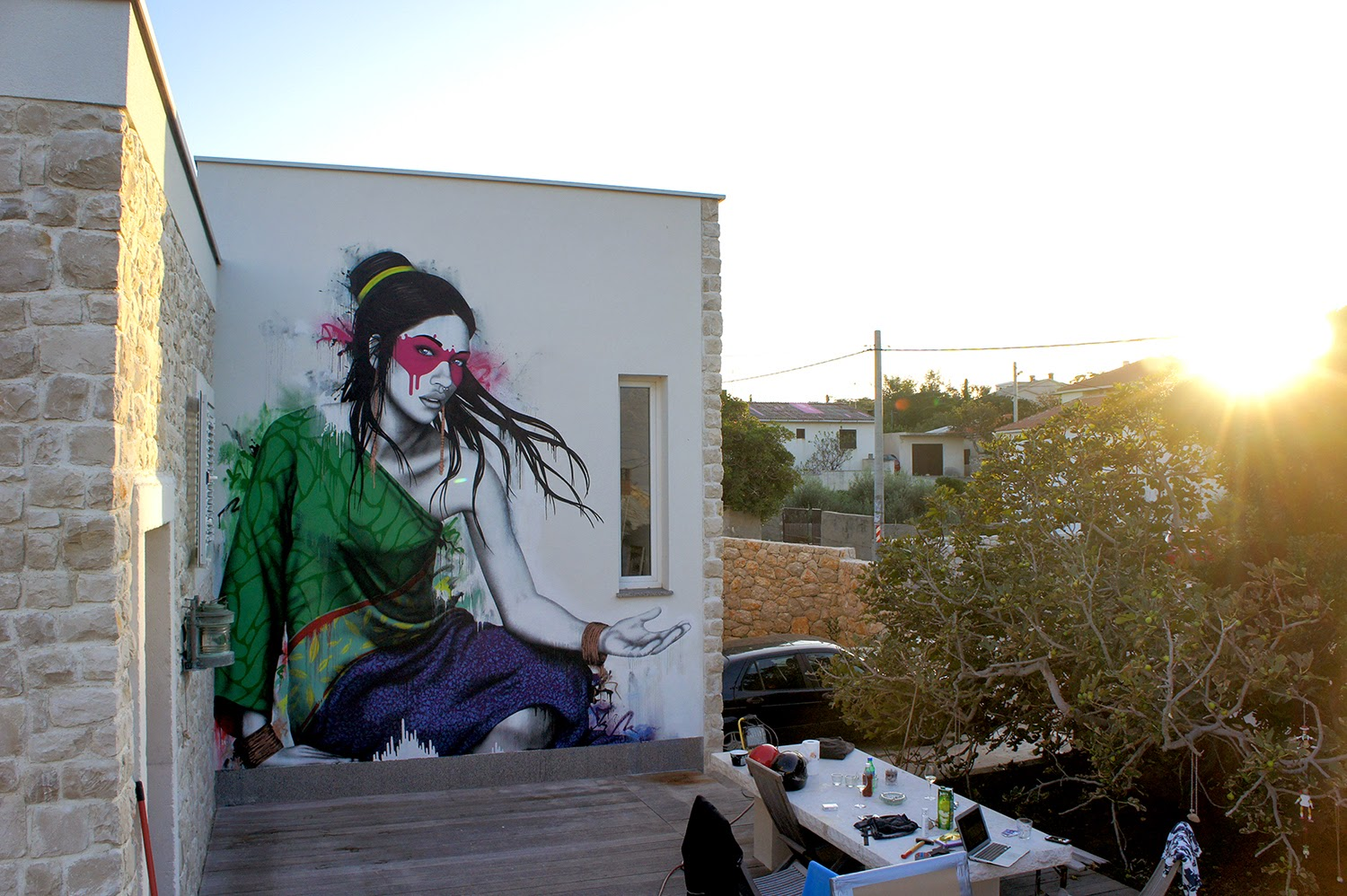Fin DAC is currently in Croatia where he spent a few days working on this sweet new piece somewhere on the streets of Ražanac.