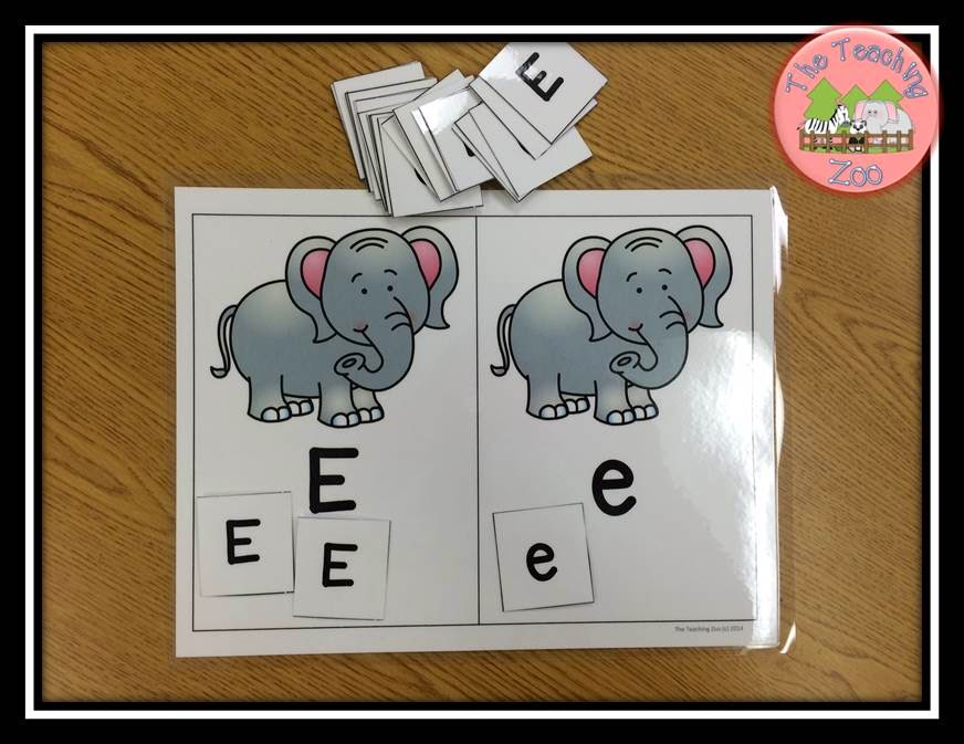 http://www.teacherspayteachers.com/Product/Zoo-Animals-ABC-Alphabet-Letter-Sort-Sorting-Mats-Uppercase-and-Lowercase-1504967