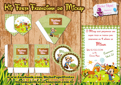 kit festa fazendinha mickey