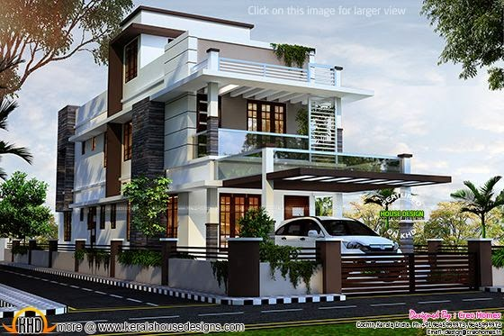 Contemporary house at Kottayam