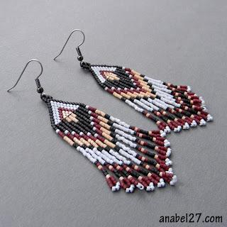 авторские украшения из бисера купить серьги в стиле этно бохо