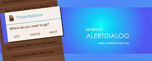 Android AlertDialog Example Codes with Output Screenshots