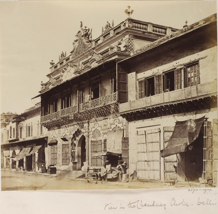 Chandni Chauk (Chowk) - Old Delhi, 1858