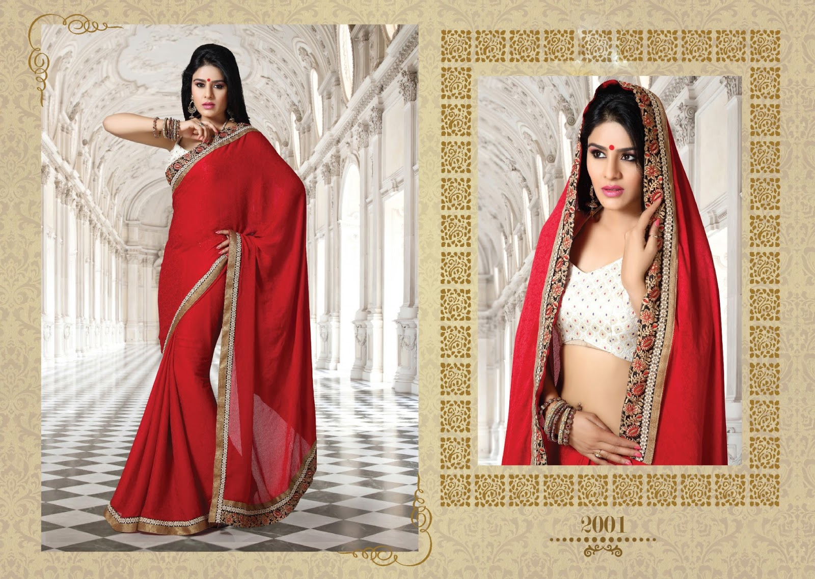 Anjali Vol 5-Designer Heavy Pure Georgette with Art Silk Blouse Saree