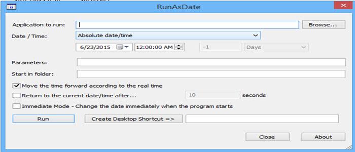 كيفية استخدام البرامج التجريبية مدى الحياة مجاناً بطريقة مشروعة من خلال اداة RunAsDate