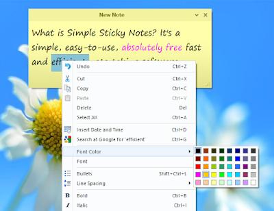 تحميل برنامج simple sticky notesلسطح المكتب