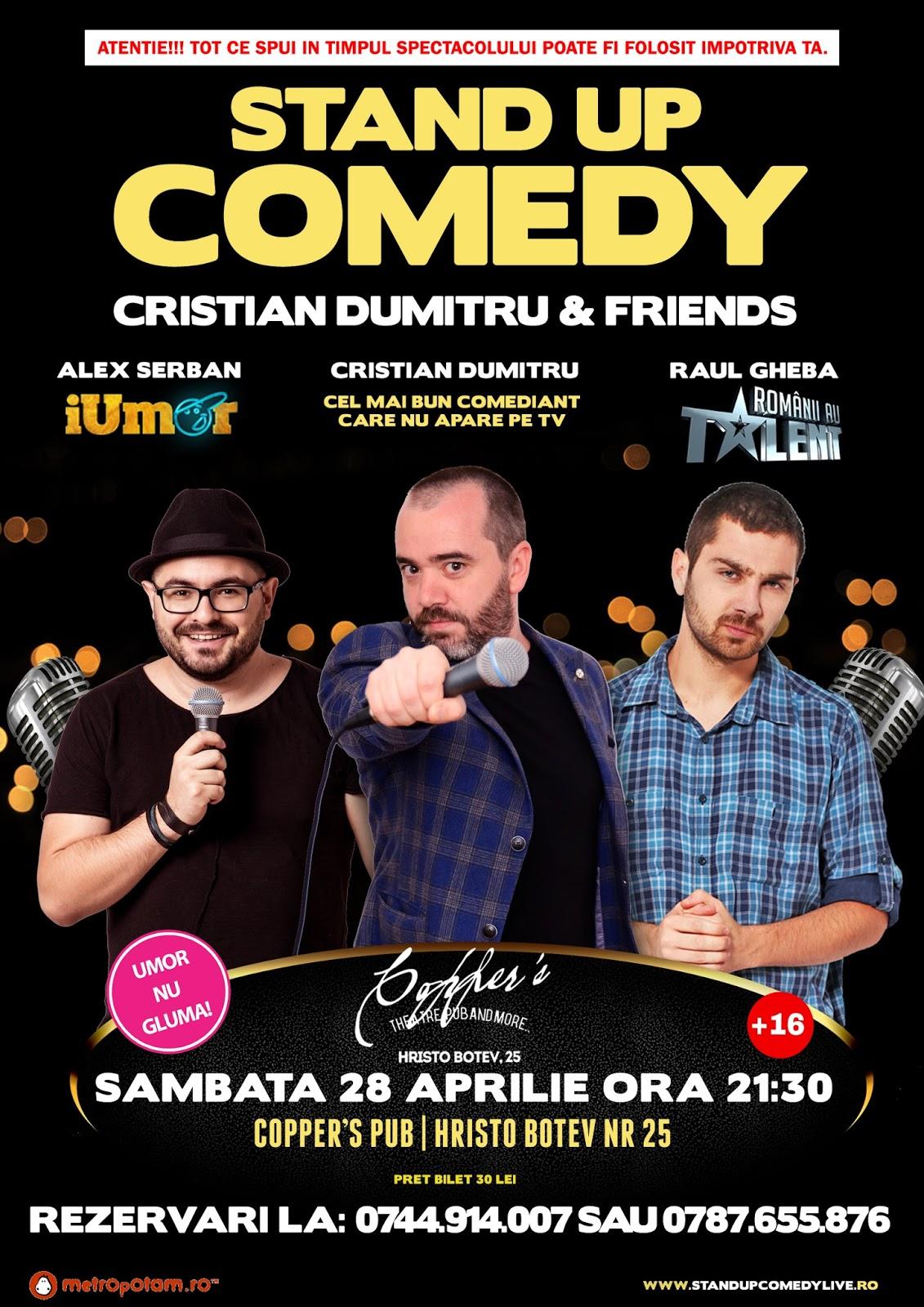 Stand-Up Comedy Bucuresti Sambata 28 Aprilie