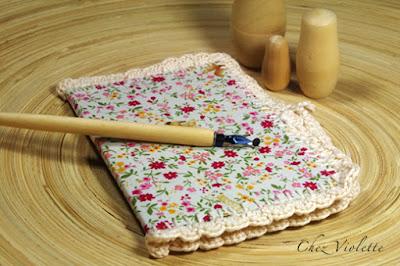 notebook  crochet edging lace  - by Chez Violette