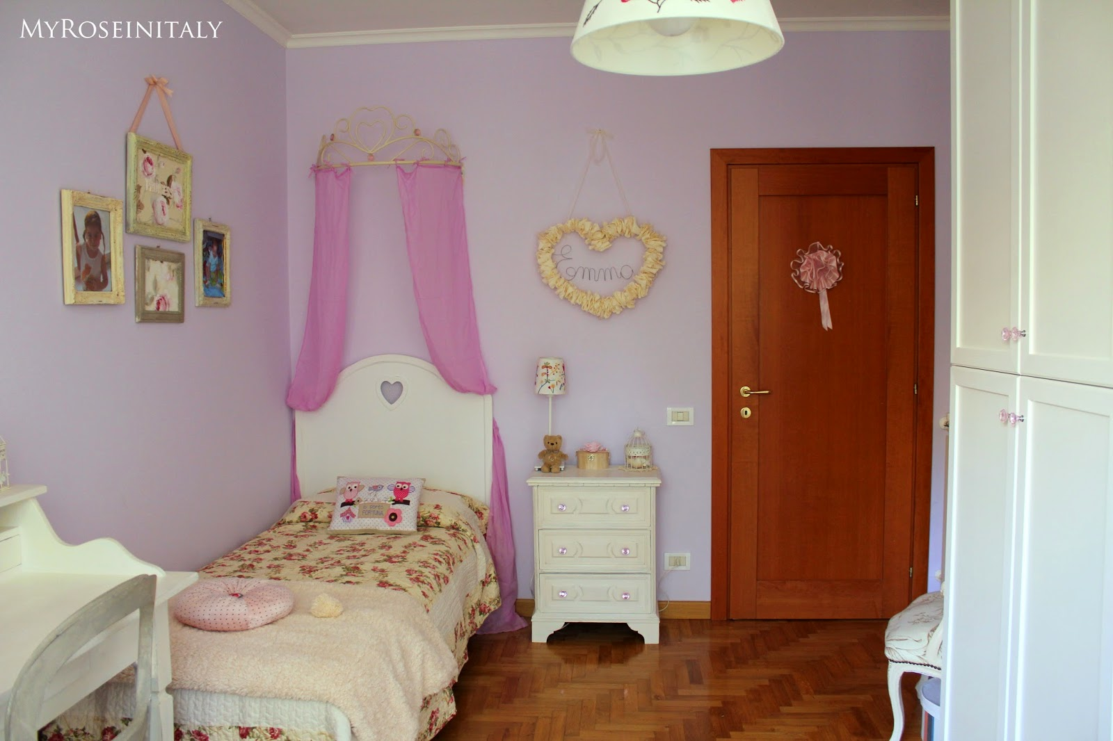 Colori pareti camerette per ragazze - Pareti dipinte per camerette ...