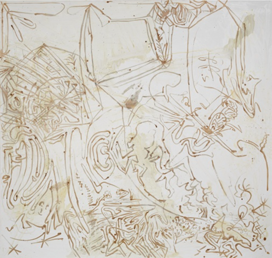 Sigmar Polke  Untitled, 1990 Silver nitrate, silver bromide on linen