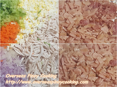 Pinoy Macaroni Salad, Non Sweet Version - Ingredients