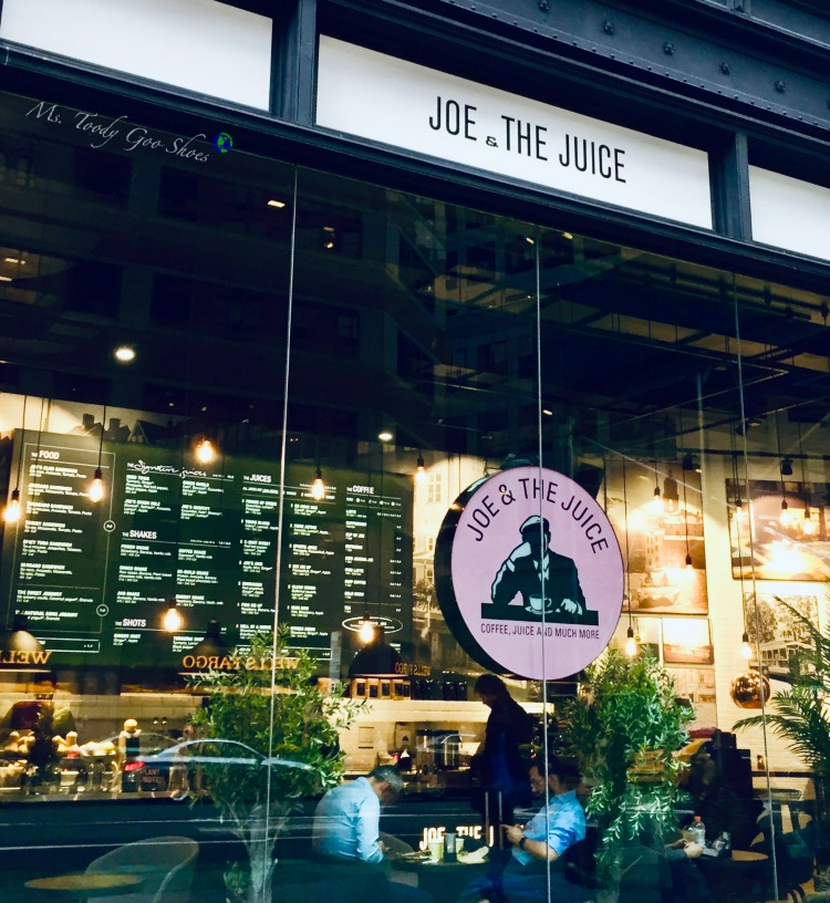 Joe & The Juice- One of  50 Places To Eat Near Tiimes Square - From Cheap To Chic! | Ms. Toody Goo Shoes