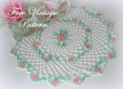 Lacy crochet free doily patterns small crochet doily dt1010fo