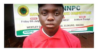 UTME 2019: 15-yr-old boy Speaks On How He Emerged JAMB Best Student