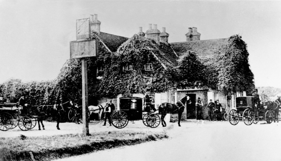 Photograph of The Swan, Bell Bar, in the 1900s Image from the NMLHS, part of the Images of North Mymms collection