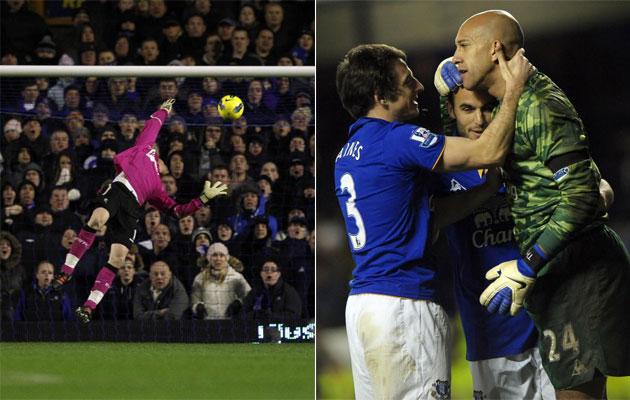 arquero del Everton marcó un gol de arco a arco