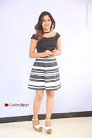 Actress Mi Rathod Pos Black Short Dress at Howrah Bridge Movie Press Meet  0022.JPG