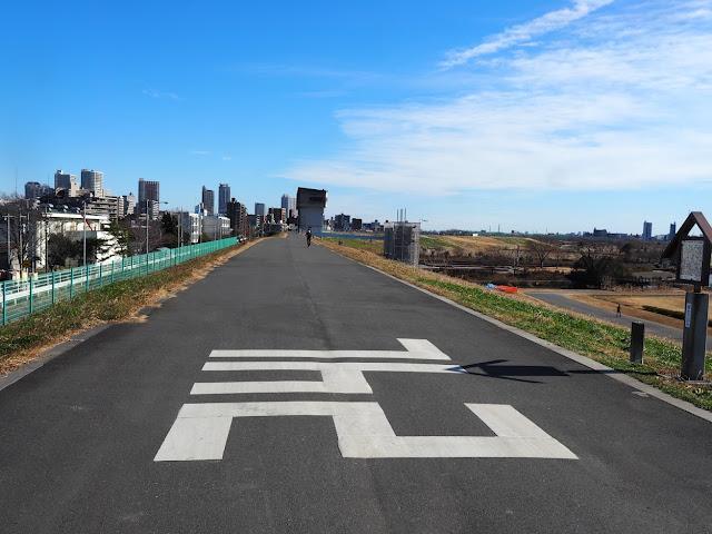 荒川自転車道 左岸河口より24km