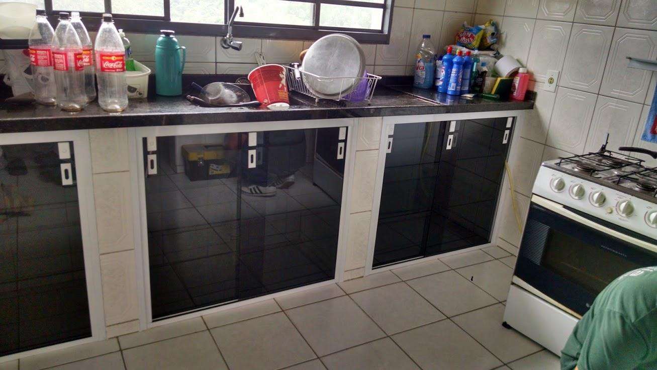 Adesivo De Moveis De Madeira ~  Armário de cozinha fechamento embaixo da pia