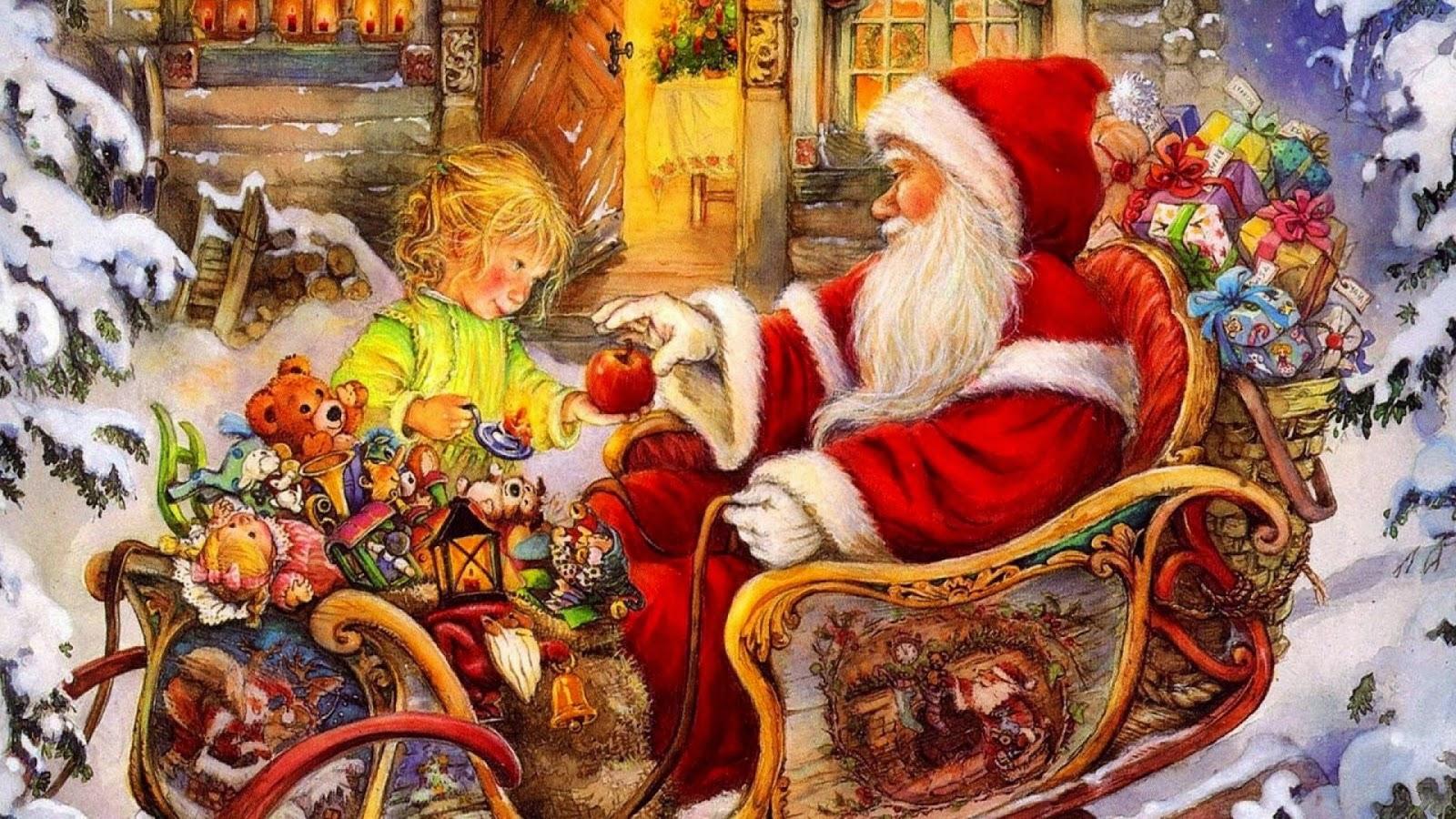 Fondo De Pantalla 3d De Navidad De Santa Vas De Luna Hd: ImagesList.com: Christmas Wallpapers, Part 8