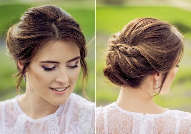 Pastelowy, lawendowy makijaż ślubny