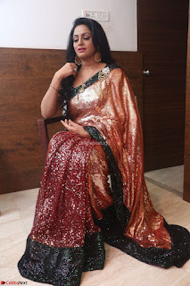 Udaya Bhanu lookssizzling in a Saree Choli at Gautam Nanda music launchi ~ Exclusive Celebrities Galleries 038.JPG