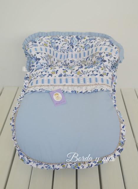 vestidura maxicosi flores azul