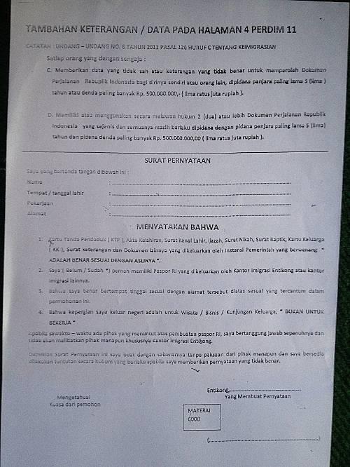 surat pernyataan halaman 4 perdim 11