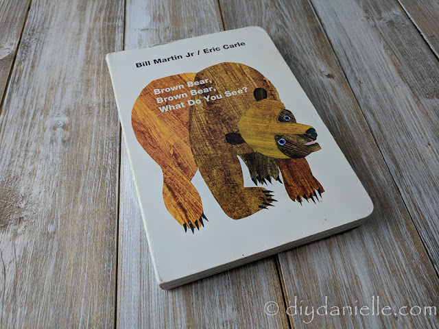 Brown Bear, Brown Bear is a favorite book for a toddler.