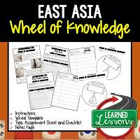 East Asia Activity, World Geography Activity, World Geography Interactive Notebook, World Geography Wheel of Knowledge (Interactive Notebook)