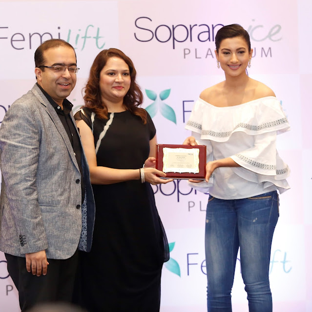Dr Rohit Batra,Dermatologist at Dermaworld Clinic and Actress Gauhar Khan