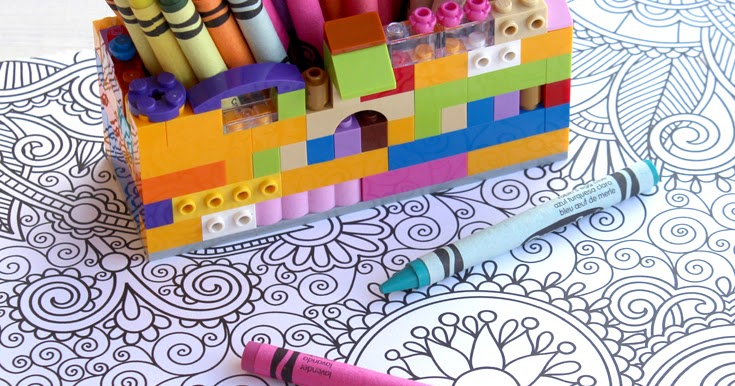 Doodlecraft Lego Craft Crayon Organizer Caddy DIY