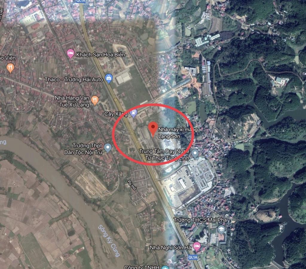 Vị trí dự án Shophouse Apec Diamond Park Lạng Sơn