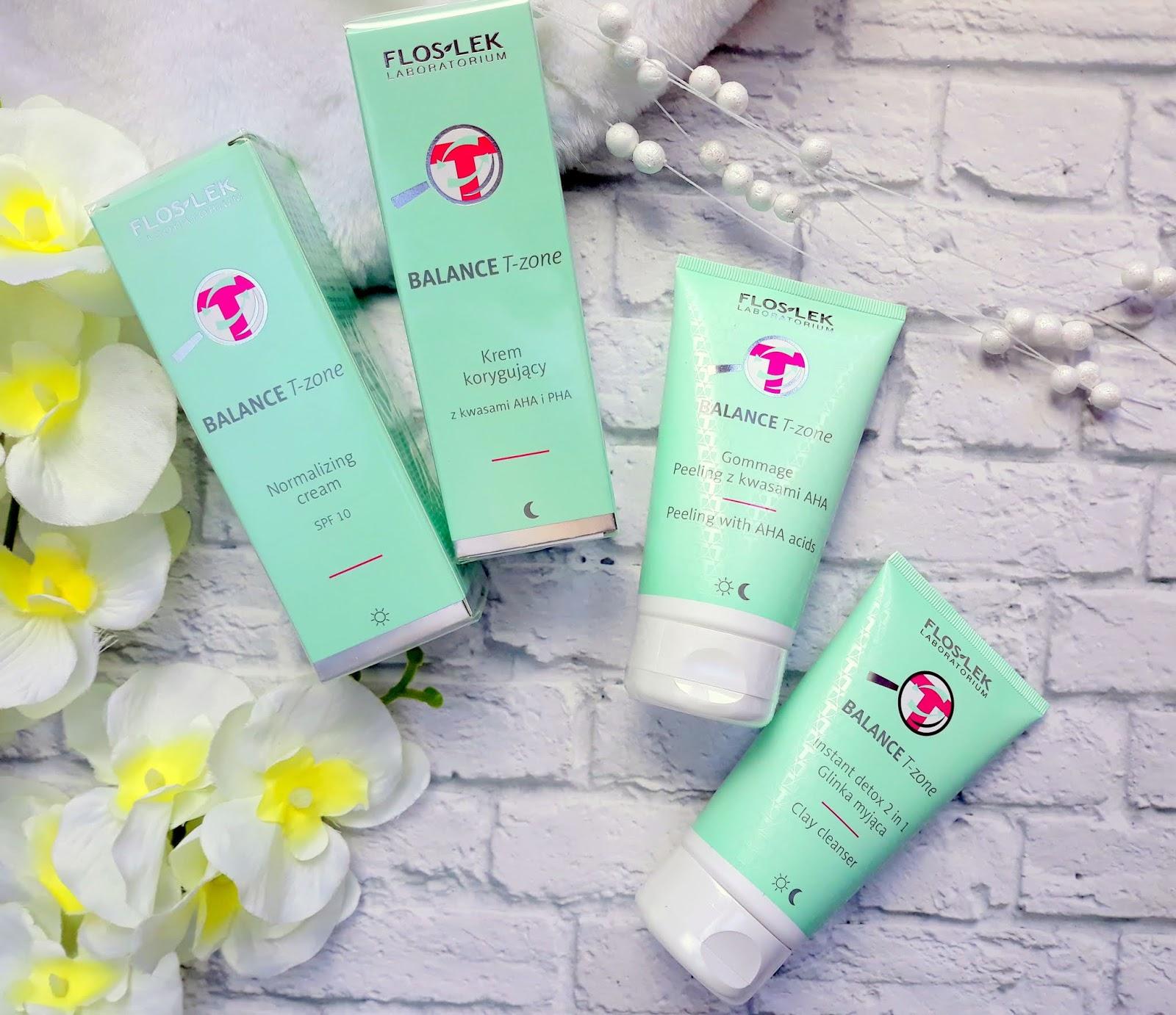 FLOSLEK Balance T-Zone pielęgnacja skóry mieszanej