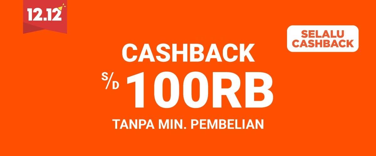 Shopee - Promo Voucher cashback s.d 100 Ribu Tanpa Min Belanja