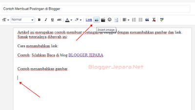 cara memasukkan gambar pada postingan blog