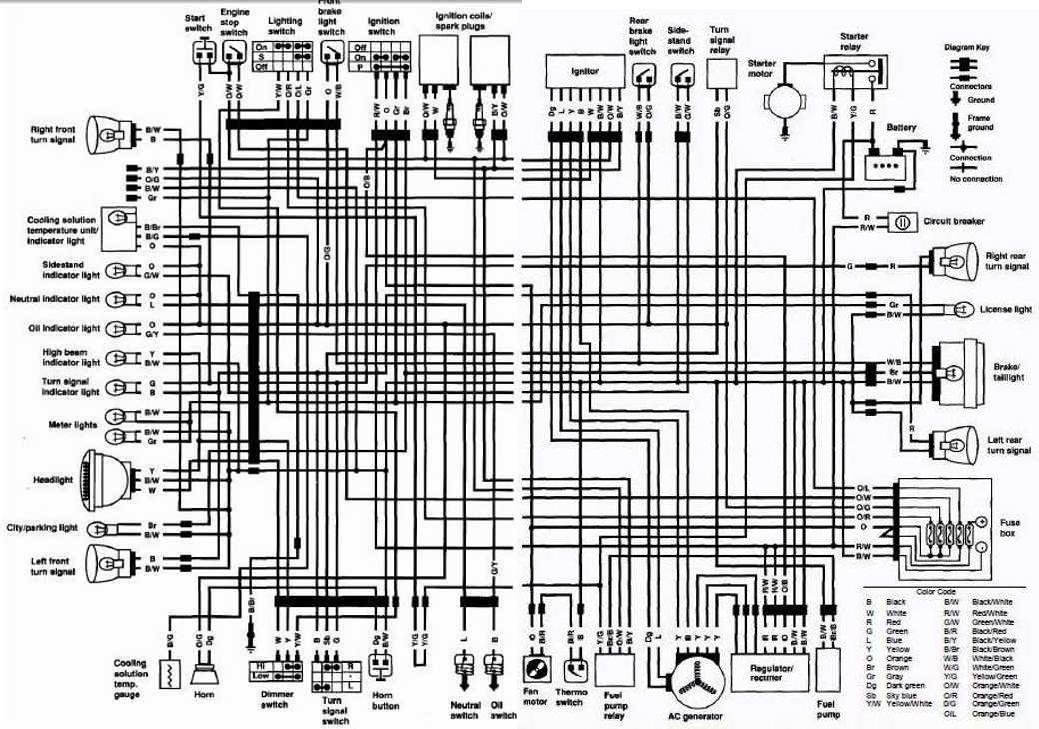Suzuki Vs700 Intruder Motorcycle 1986 Complete Electrical Wiring Diagram  Uk