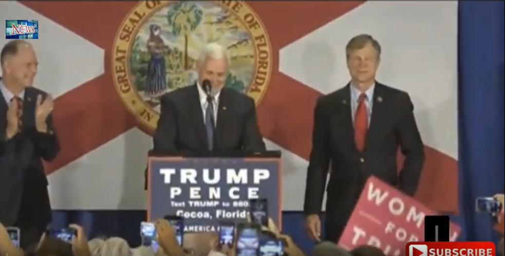 the coalition to save manned space exploration  governor mike pence gave a stirring speech to thousands of nasa and space workers on florida s space coast declaring the trump pence administration would