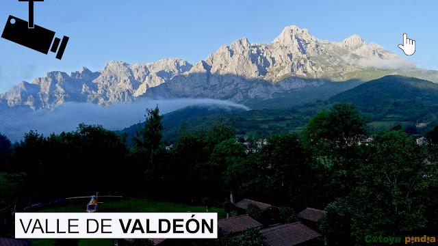 Webcam del Valle de Valdeón en Picos de Europa