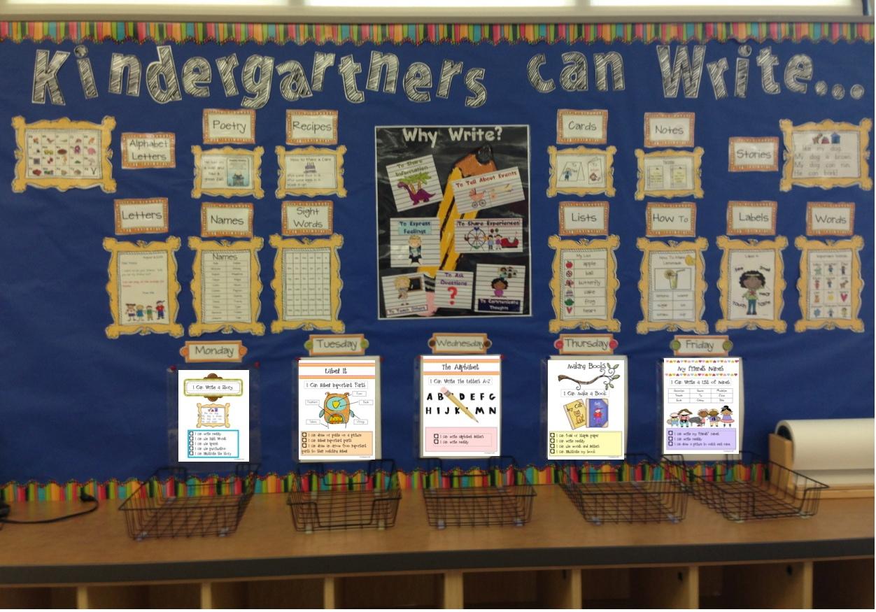 Kindergarten Kiosk Writing Center Quick Kit