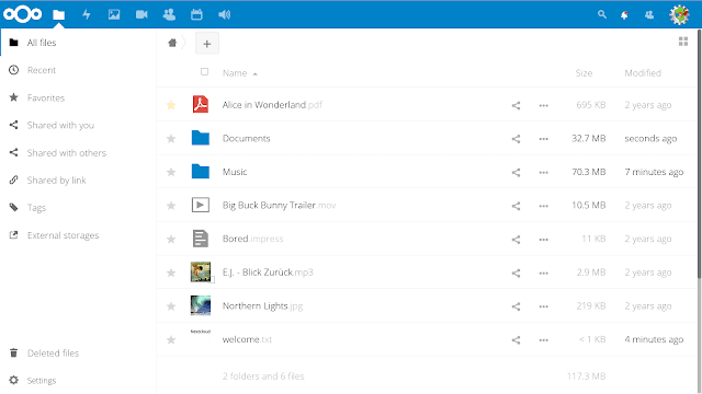 NextCloud is a web application that can store and serve content from a centralized location, much like Dropbox.