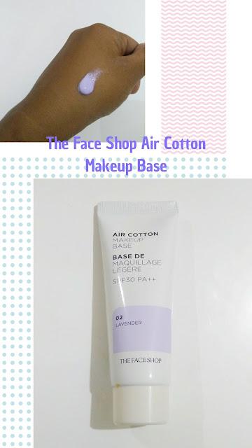 The Face Shop Air Cotton Makeup Base #02 Lavender