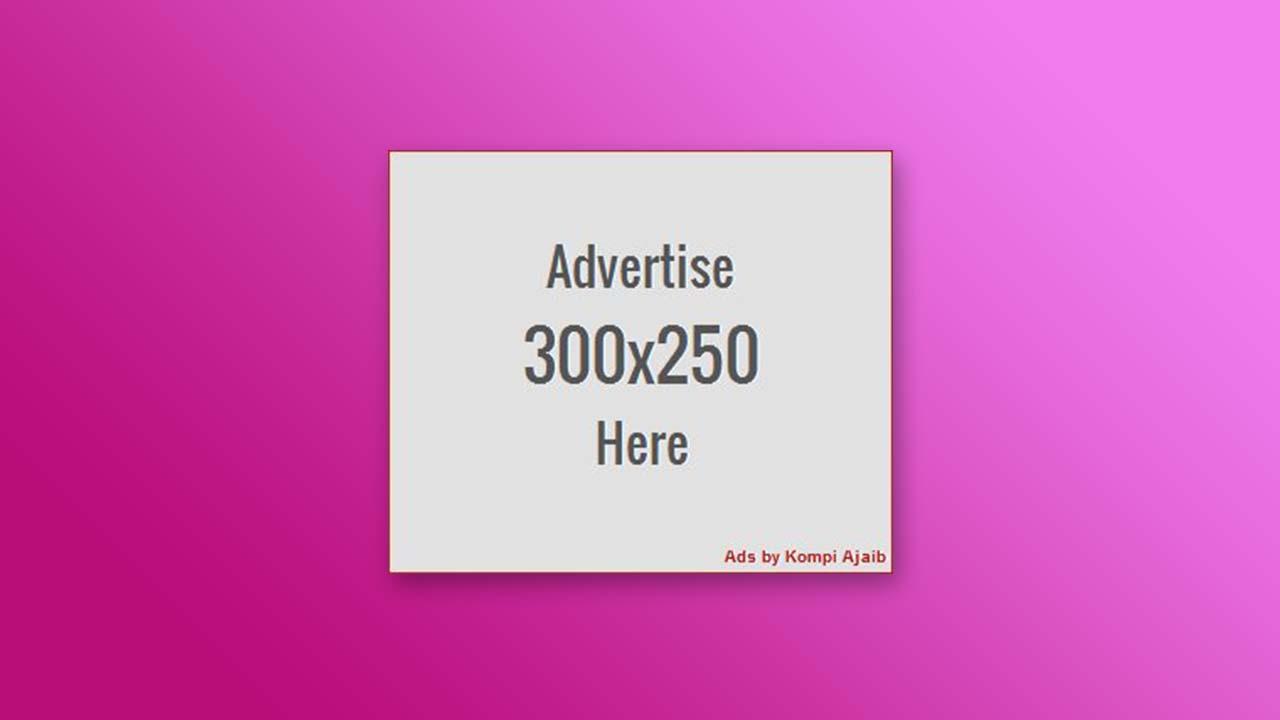 Membuat Kotak Untuk Slot Iklan Dengan Link Pasang Iklan