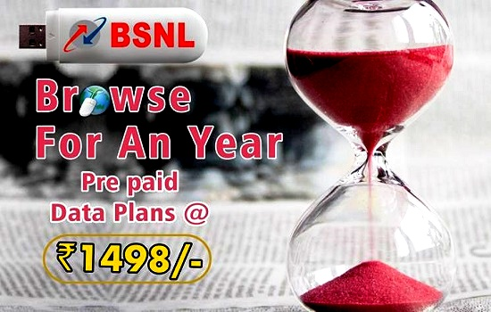BSNL regularized Double Data Offer on Annual prepaid 3G data STVs from 1st April 2017 on wards in all the circles