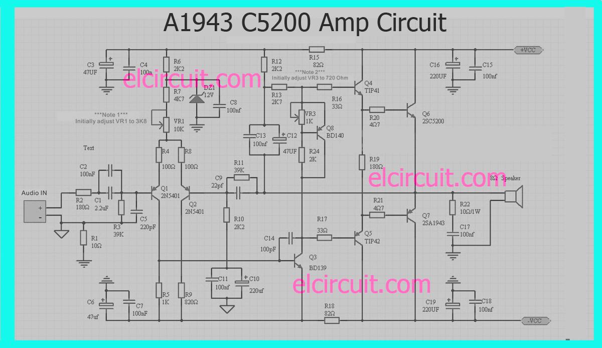 Schematic Wiring Diagram 300watt Subwoofer Power Amplifier Wiring