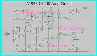 A1943 C5200 Power Amplifier circuit