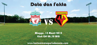 Data dan Fakta Fantasy Premier League GW 31 Liverpool vs Watford Fantasi manager Indonesia