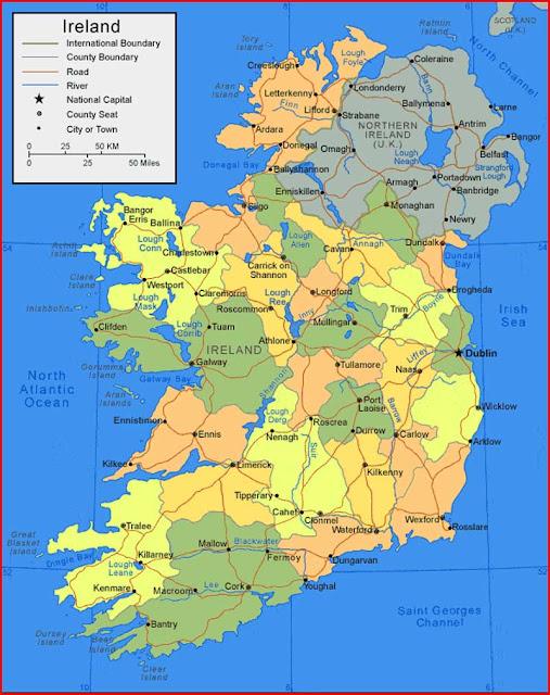 Gambar Peta Irlandia