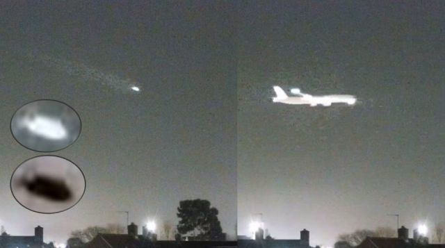 UFO News ~ UFO speeding across the Sky above Heathrow, London plus MORE UFO%2BHeathrow%2Bairport%2BLondon%2B%25281%2529